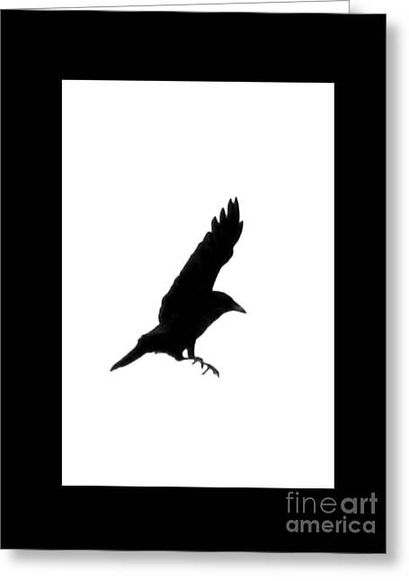 Full-length Portrait Greeting Cards - Black Crow Greeting Card by Linsey Williams