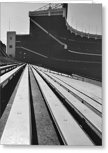 Yankee Stadium Bleachers Greeting Cards - Bleachers-Final Look-1973 Greeting Card by Ross Lewis