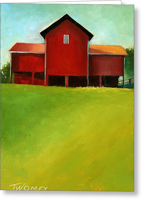 Bleak House Barn 2 Greeting Card by Catherine Twomey