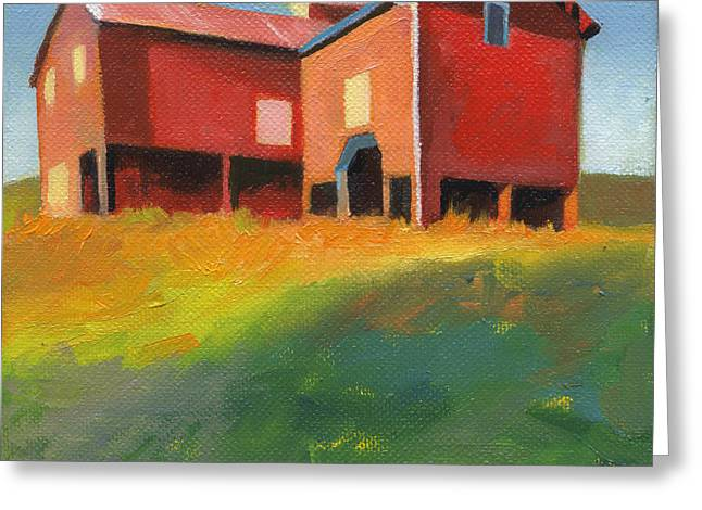 Cupola Paintings Greeting Cards - Bleak House Plantation Barn at Sunset Greeting Card by Catherine Twomey