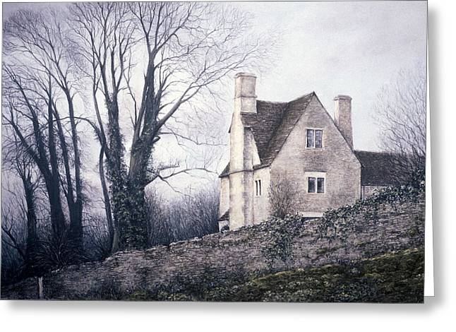 Nostalgia Pastels Greeting Cards - Bleak House Greeting Card by Rosemary Colyer