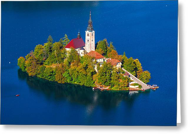 Bled Greeting Cards - Bled 03 Greeting Card by Tom Uhlenberg
