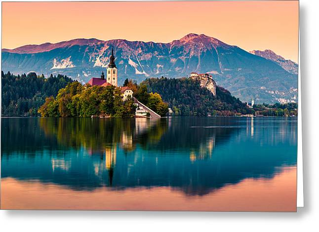 Bled Greeting Cards - Bled 06 Greeting Card by Tom Uhlenberg