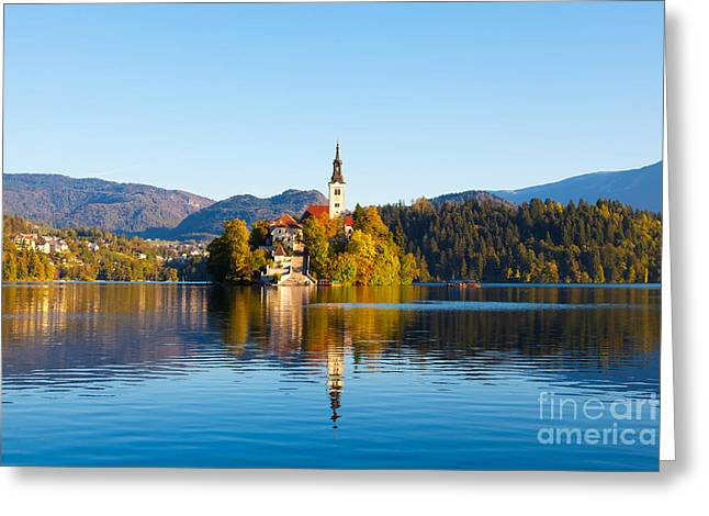 Bled Greeting Cards - Bled 08 Greeting Card by Tom Uhlenberg