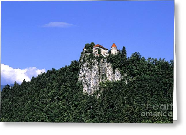 Bled Greeting Cards - Bled Castle, Slovenia Greeting Card by Bill Bachmann