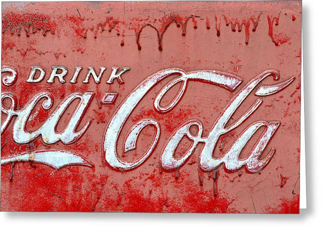 Bleeding Coke Red Greeting Card by David Lee Thompson