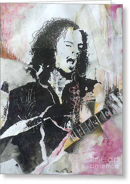 Metallica Mixed Media Greeting Cards - Bleeding Me Greeting Card by Chad Rice
