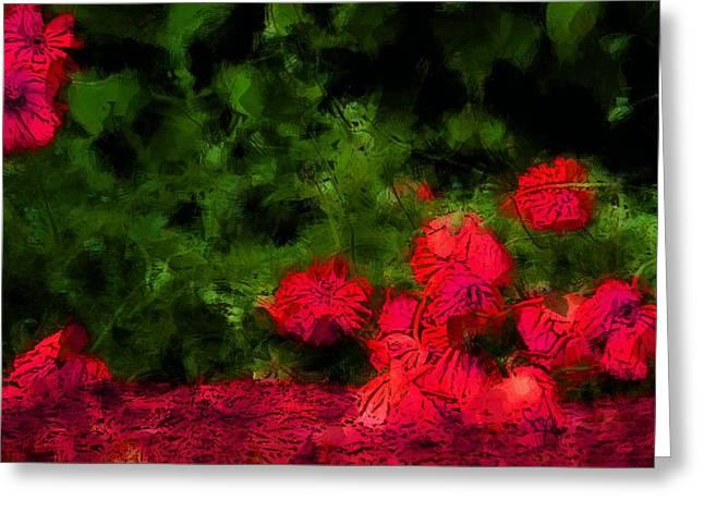 Masterful Greeting Cards - Bleeding Souls Greeting Card by  The Art Of Marilyn Ridoutt-Greene
