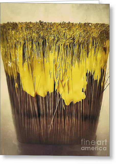 Phot Art Greeting Cards - Bleeding yellow Greeting Card by AK Photography