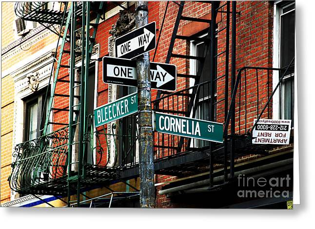 Photo Art Gallery Greeting Cards - Bleeker and Cornelia Greeting Card by John Rizzuto