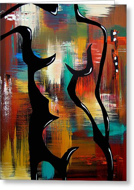 Blender - Original Abstract Art By Fidostudio Greeting Card by Tom Fedro - Fidostudio