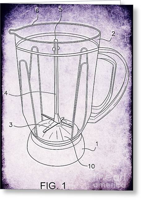 Appliance Greeting Cards - Blender Patent Greeting Card by Edward Fielding