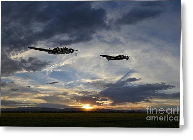 Take Command Greeting Cards - Blenheim Sortie  Greeting Card by J Biggadike