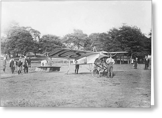 Bleriot Monoplane, Aldershot, 1912 Greeting Card by Science Photo Library