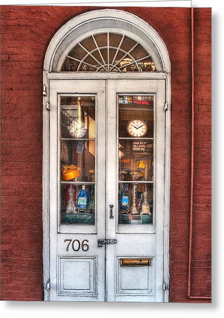 French Quarter Doors Greeting Cards - Bless All Those Who Step Inside Greeting Card by Brenda Bryant