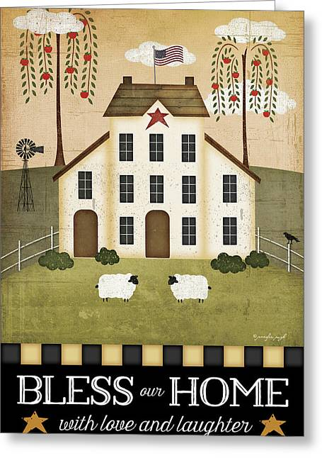 Bless Our Home Greeting Card by Jennifer Pugh