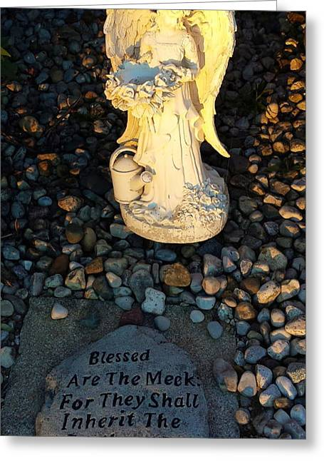 Jesus Sculptures Greeting Cards - Blessed Are The Meek Greeting Card by Lora Machiele