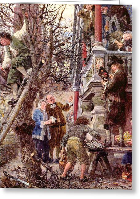 Blessed Are Those That Have Greeting Card by Adolph von Menzel