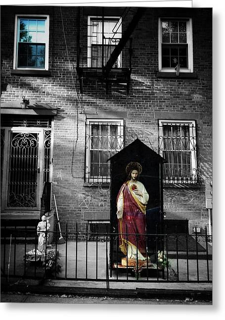 Religious Art Digital Art Greeting Cards - Blessed Brooklyn Greeting Card by Natasha Marco