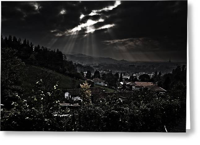 Blessed by light Greeting Card by Michael  Bjerg