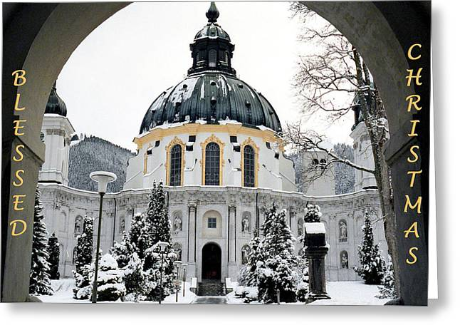Christmas Greeting Greeting Cards - Blessed Christmas Greeting Card by Dawn Currie
