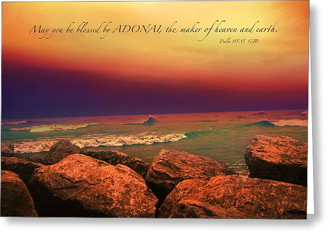 Adonai Greeting Cards - Blessed Greeting Card by Debbie Nobile