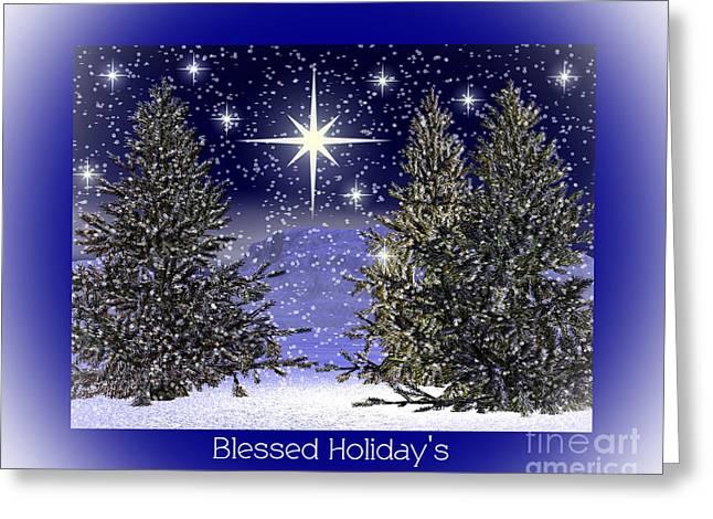 Eva Thomas Greeting Cards - Blessed Holidays Greeting Card by Eva Thomas
