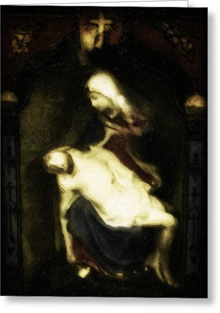 Crucify Digital Art Greeting Cards - Blessed Greeting Card by Image Takers Photography LLC