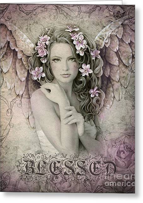 Blessed Greeting Card by Jessica Galbreth