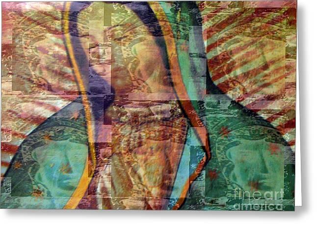 Januszkiewicz Greeting Cards - Blessed Lady Greeting Card by Patricia Januszkiewicz