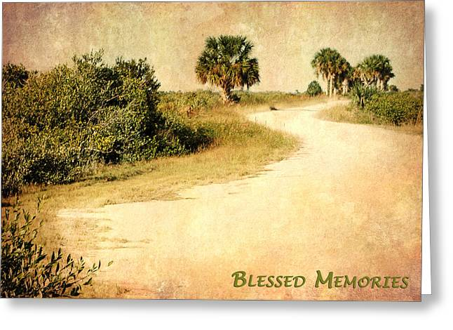 Blessed Memories Greeting Card by Dawn Currie