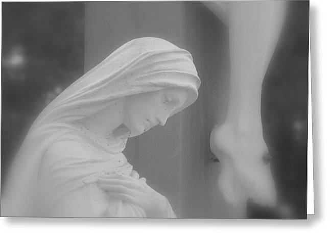 Breaking Statue Greeting Cards - Blessed Mother Greeting Card by Beth Vincent