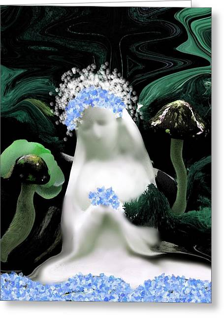 Blessed Mother Mary Greeting Card by Sherri  Of Palm Springs
