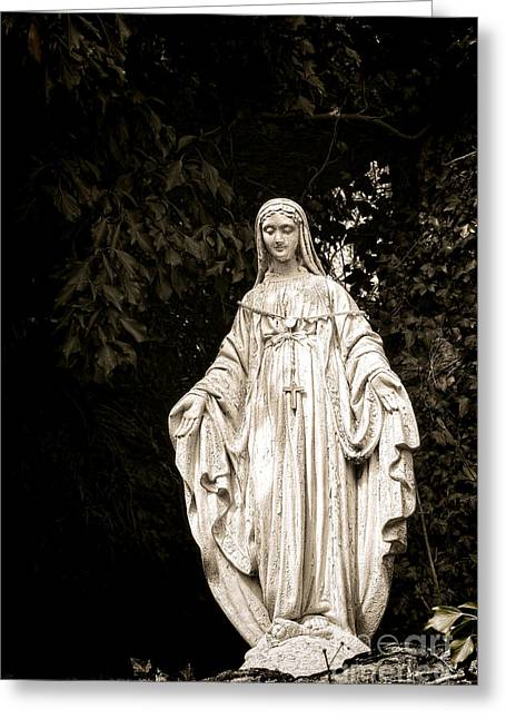 Sacred Greeting Cards - Blessed Virgin Mary Greeting Card by Olivier Le Queinec