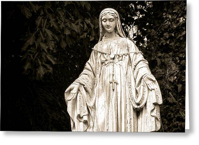Blessed Virgin Mary Greeting Card by Olivier Le Queinec