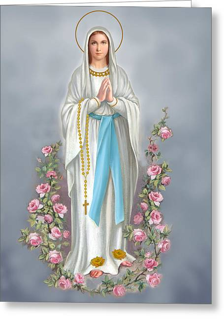 Blessed Mother Greeting Cards - Blessed Virgin Greeting Card by Valerian Ruppert