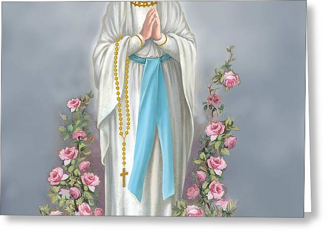 Blessed Virgin Greeting Card by Valerian Ruppert
