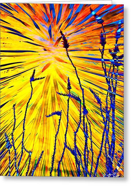 Nature Study Digital Art Greeting Cards - Blessing VII Greeting Card by Steve  Ferguson