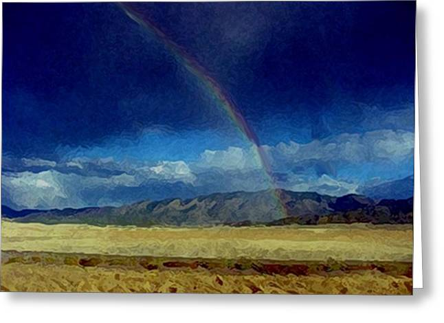 Thunderstorm Mixed Media Greeting Cards - Blessings And Rainbows Greeting Card by Dennis Buckman