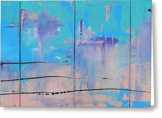 Blue Abstracts Greeting Cards - Blessings Greeting Card by Deborah O