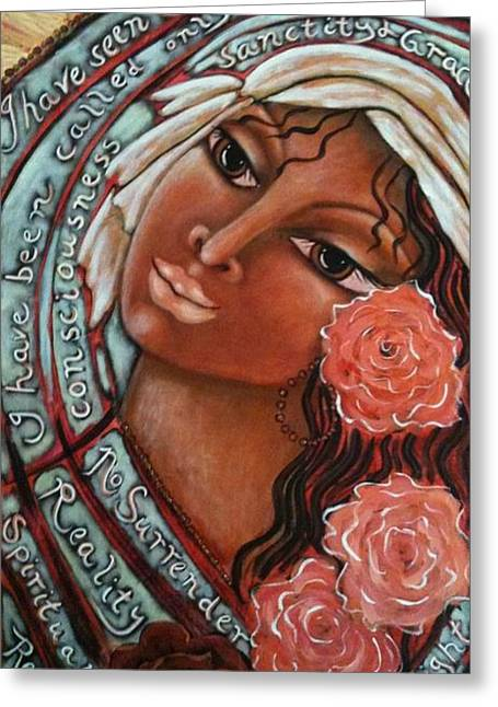 Religious Mixed Media Greeting Cards - Blessings of the Magdalene Greeting Card by Maya Telford