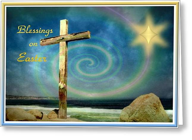 Best Ocean Photography Digital Greeting Cards - Blessings On Easter Greeting Card by Joyce Dickens