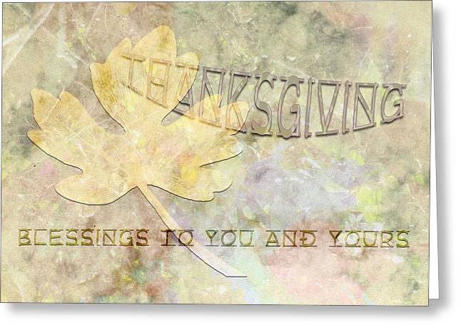 Sarah Vernon Greeting Cards - Blessings to You and Yours Greeting Card by Sarah Vernon