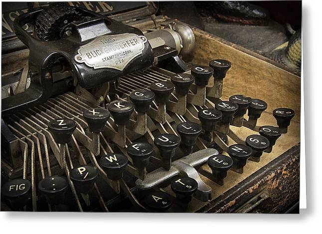 Typewriter Keys Photographs Greeting Cards - Blickensderfer No. 5 Greeting Card by Daniel Hagerman