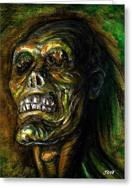 Universal Monsters Greeting Cards - Dead Blind Greeting Card by Joya