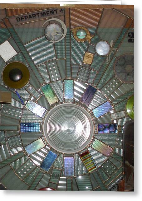 Science Glass Art Greeting Cards - Blinded by Science Greeting Card by Henry Matthaei