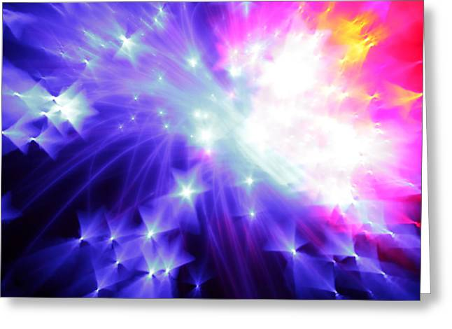 Science Fiction Art Photographs Greeting Cards - Blinded by the Light Greeting Card by Dazzle Zazz