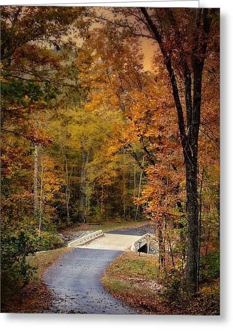 Autumn Scenes Greeting Cards - Bliss - Autumn Landscape Greeting Card by Jai Johnson
