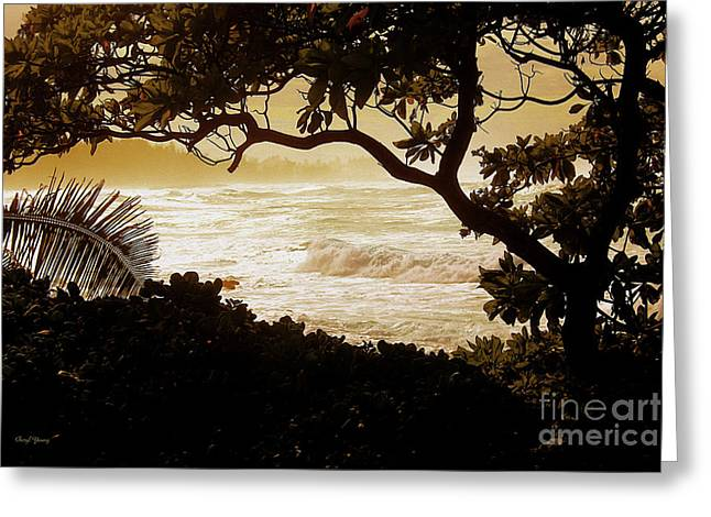 Surf Silhouette Greeting Cards - Bliss Greeting Card by Cheryl Young