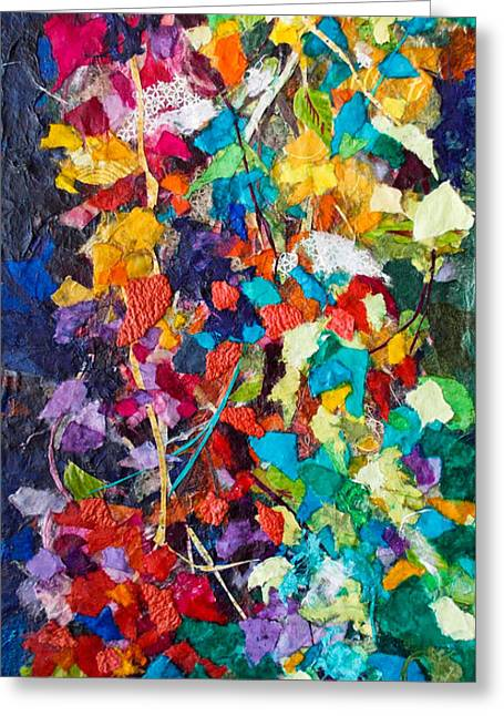 Kat Mixed Media Greeting Cards - Bliss Collage Greeting Card by Kat Ebert